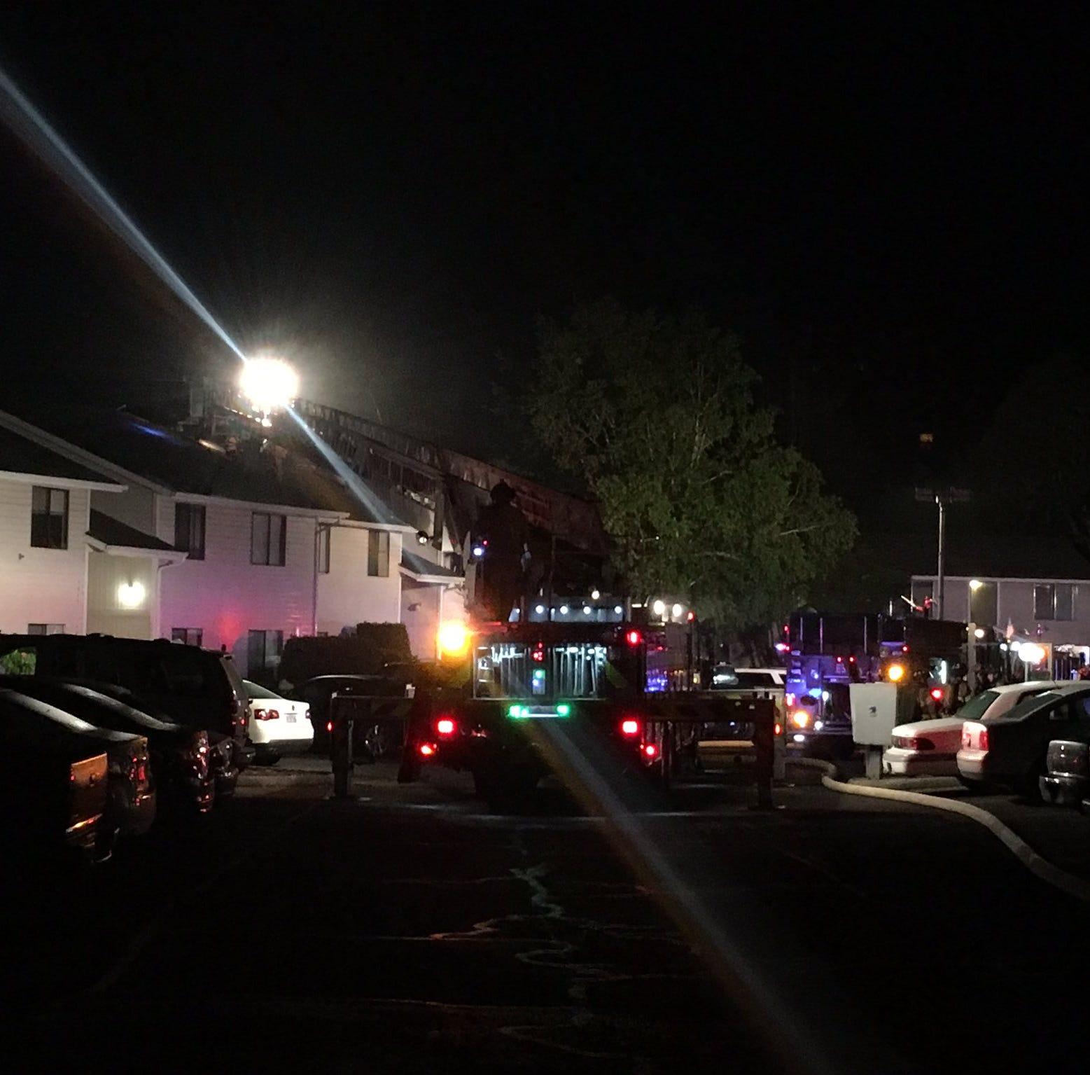 Lancaster Dr NE open after apartment fire on Satter Drive