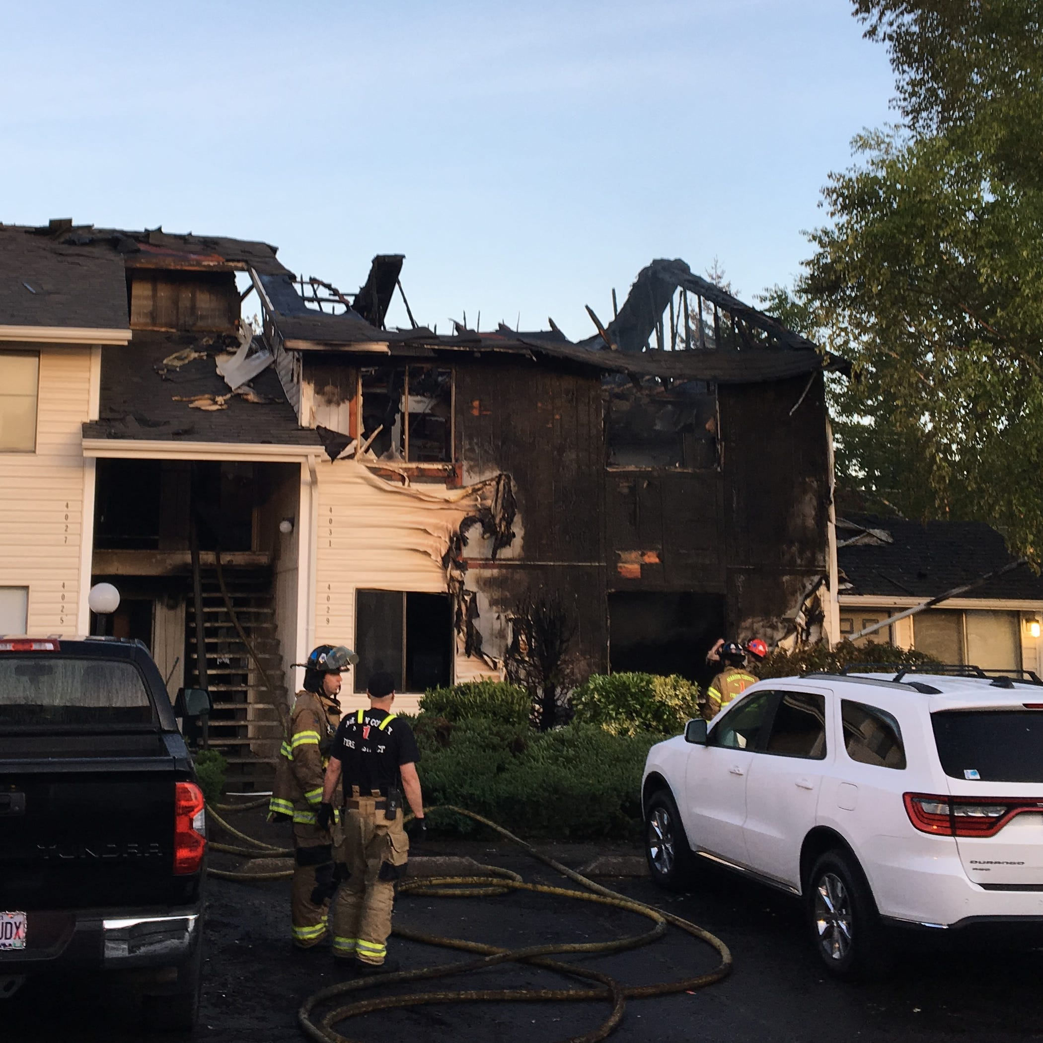 Apartment fire on Satter Drive sends woman to hospital with critical injuries