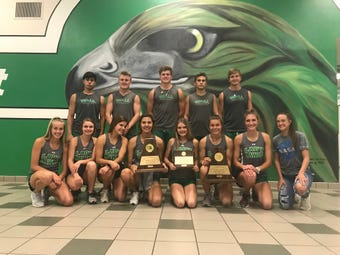 The Wall High School track and field team fills a bus headed to the UIL State Track and Field Championships Friday in Austin
