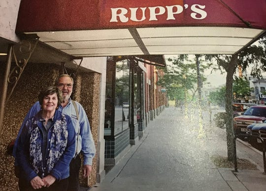 Richard and Sandy Rupp outside the supper club in 2015.