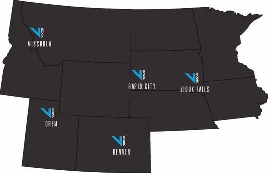 A map of VIKOR Teleconstruction office locations.