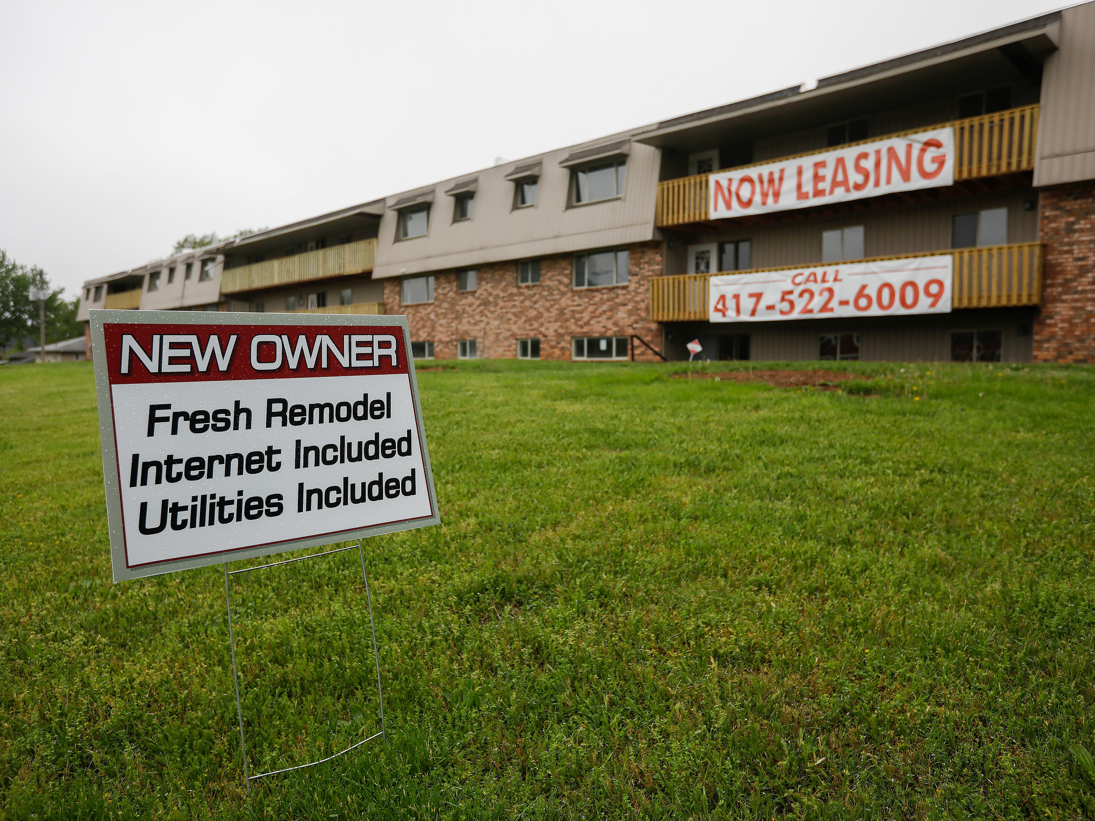 Adam Stacey, the new owner of the apartment building at 2107 E Cherry St., is in the process of major renovations at the former Chris Gatley property.
