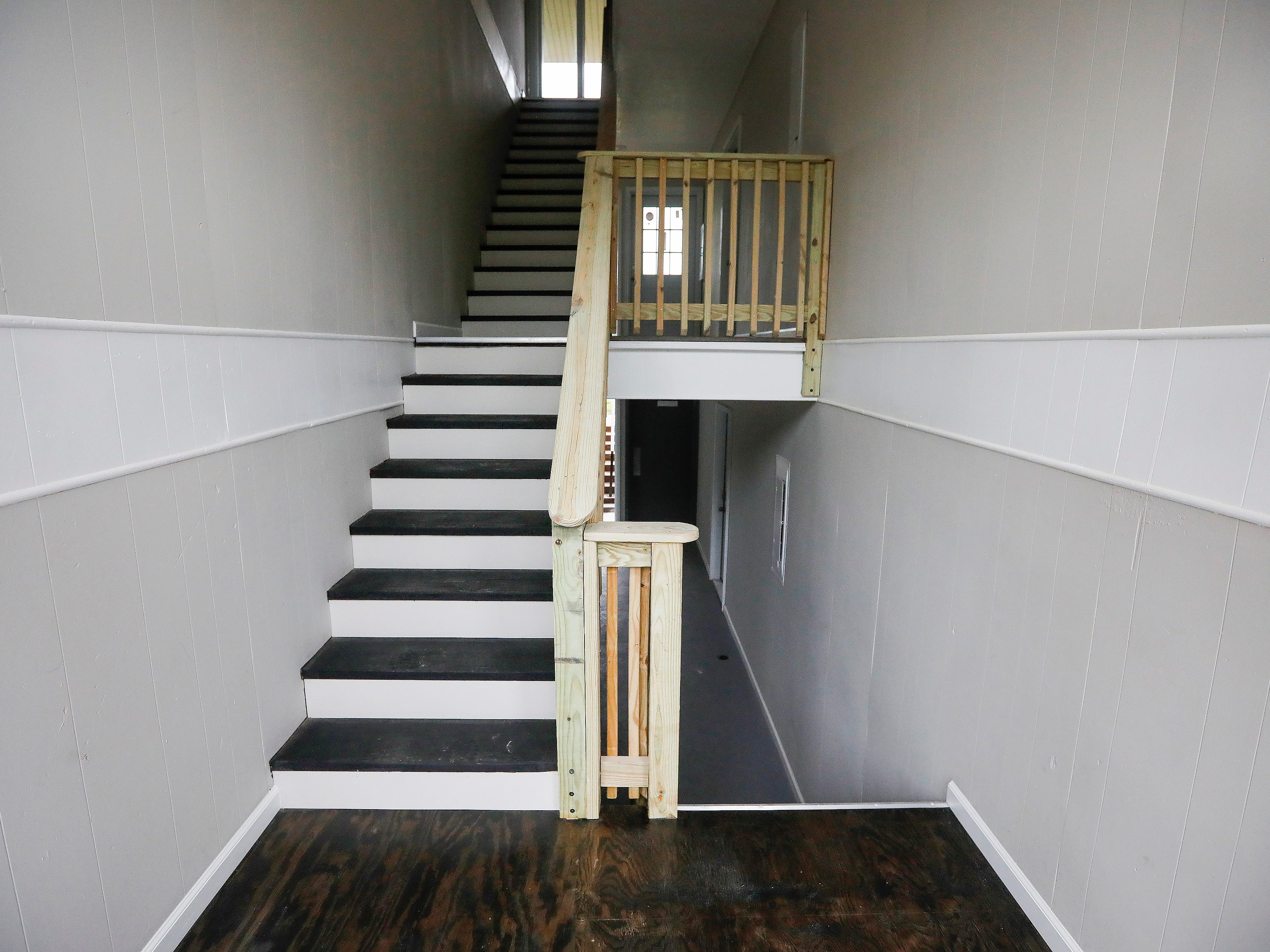 The renovated entryway in an apartment at 2107 E Cherry St. Major renovations of the former Chris Gatley property are being done by the new owner.