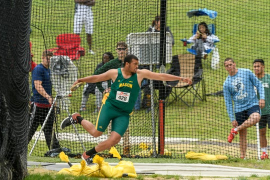 George Mason's Jaylen Simmons was named Field Athlete of the Year at the A10 track championship held May 4 and 5.