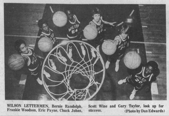 A Wilson Memorial team preview photo in The News Leader in November 1981 included Eric Payne (54) prior to his senior season.