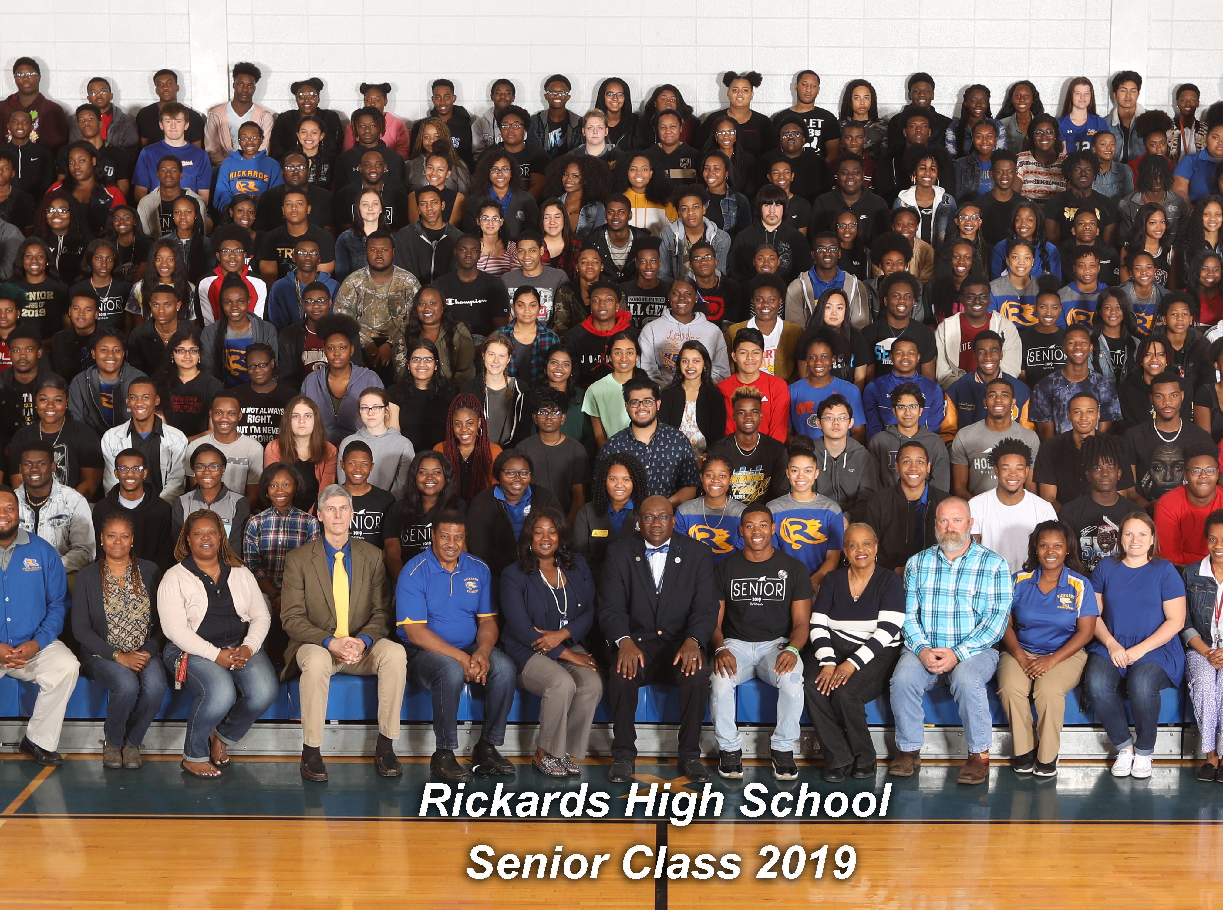 The 2019 senior class at Rickards High School.