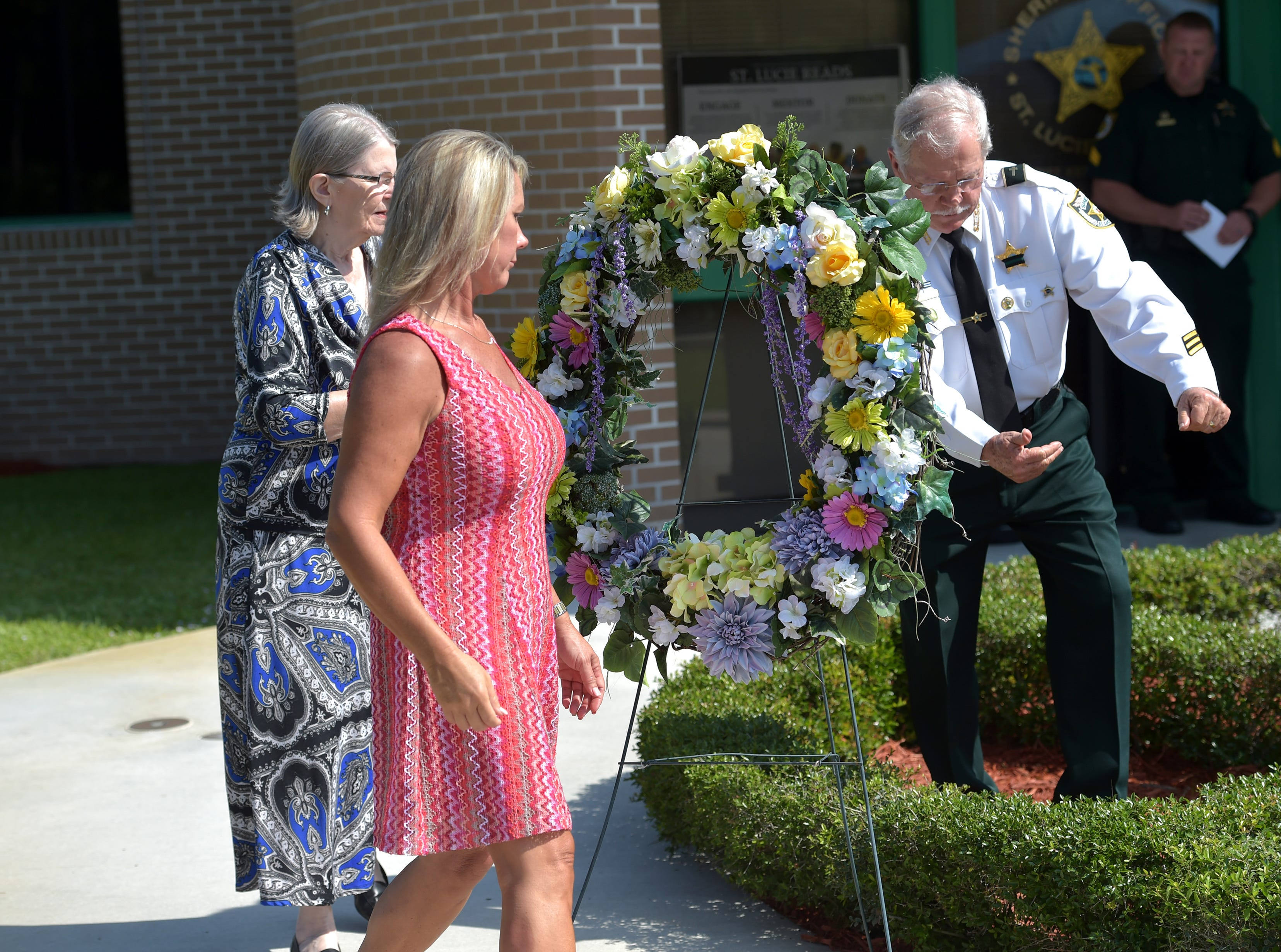 The St. Lucie County Sheriff's Office Laying of the Wreath Service for National Law Enforcement Memorial Week on Monday, May 6, 2019, in Fort Pierce. The St. Lucie County Sheriff's Office memorial honored the eight heroes and one K9 that gave their lives serving the community of St. Lucie County.