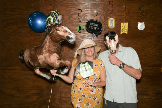 Camille and Derek Michel at the Royal Palms' Kentucky Derby Party at the Walking Tree Brewery in Vero Beach.