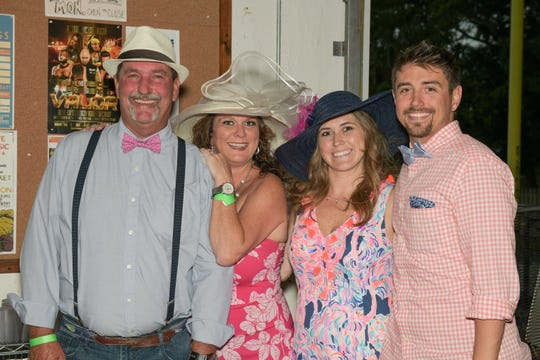 Mike Garwood, left, Mira Gates-Garwood with Kaitlin and Phil Goedeke at the Royal Palms' Kentucky Derby Party at the Walking Tree Brewery in Vero Beach.