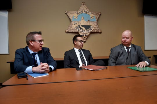 Detective Randy Skaggs, Detective Sgt. Dean Worthy and Detective Michael Marco, of the Ventura County Sheriff's Office, have led the investigation into the Nov. 7, 2018, shooting at the Borderline Bar & Grill in Thousand Oaks.