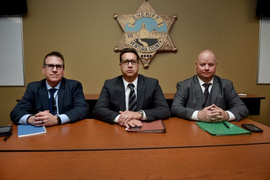 Detective Randy Skaggs, from left, Detective Sgt. Dean Worthy and Detective Michael Marco, investigators with the Ventura County Sheriff's Office, have been at the helm of the investigation into the Nov. 7 shooting at the Borderline Bar & Grill in Thousand Oaks. They sat with The Star to discuss their work.