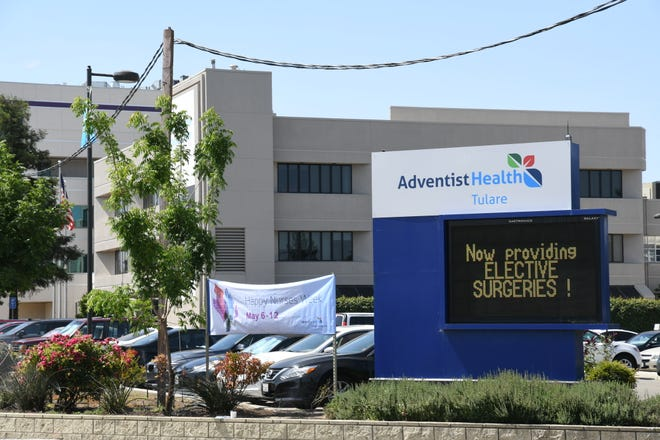 Adventist Health Tulare welcomes a new sign and logo on Monday. Late last month, Adventist received approval to officially change its name, scrubbing all mention of Tulare Regional Medical Center.