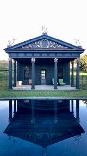 The garden at Clove Brook Farm in Dutchess County, NY, flows around an 1830s Greek Revival farmhouse.