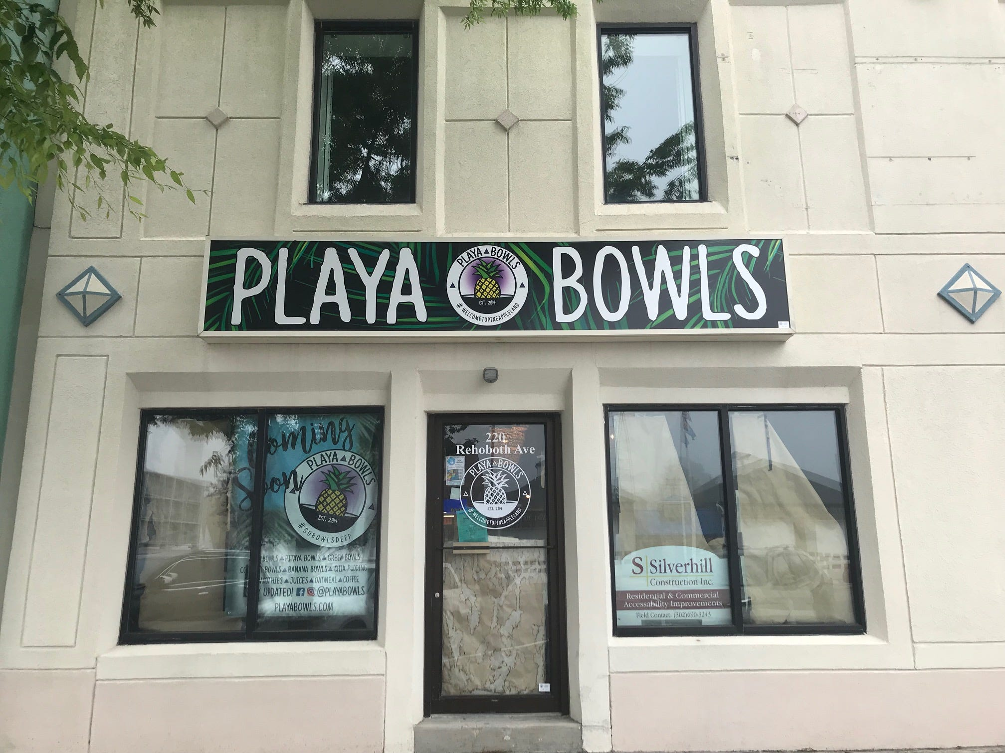 Playa Bowls, which has a location in downtown Newark, is opening a new site on Rehoboth Avenue.