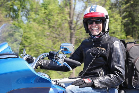 Kyle Petty is seen during the Ride Across America in 2018. The charity motorcycle ride will be making a stop in Wichita Falls Wednesday morning at Love's Travel Stop.