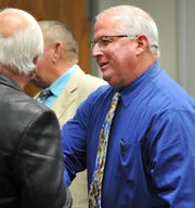 Retiring Wichita Falls police Lieutenant, Kyle Collier was congratulated by friends and former colleagues after promotions and retirement ceremony Monday morning.