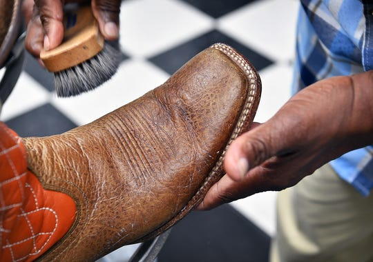 Bringing an old pair of boots back to life. Wichita Boot and Shoe Care Center.