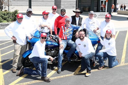 Kyle Petty, seated center, is seen with fellow riders during the Ride Across America in 2018. The charity motorcycle ride will be making a stop in Wichita Falls Wednesday morning at Love's Travel Stop.