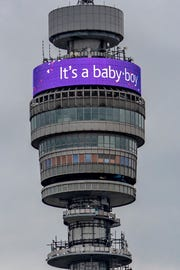 The BT Tower in London celebrated the latest royal baby on May 6, 2019.
