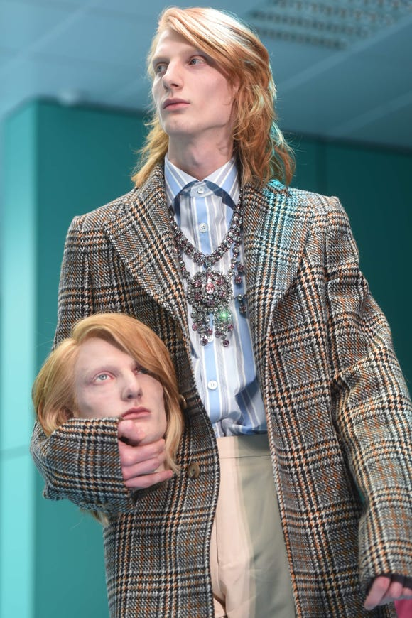 People saw double at Gucci's Milan show on Feb. 21, 2018.
