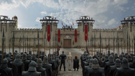 When Daenerys Targaryen (Emilia Clarke), center, her top advisers and a small contingent of troops arrived at King's Landing, it appeared Cersei Lannister could slaughter them at will.