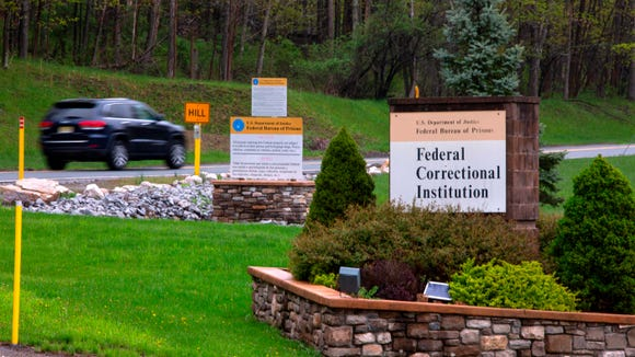 The entrance to the Federal Correctional Institution in Otisville, New York, where President Donald Trump's one-time personal lawyer Michael Cohen is due to report to jail May 5, 2019.