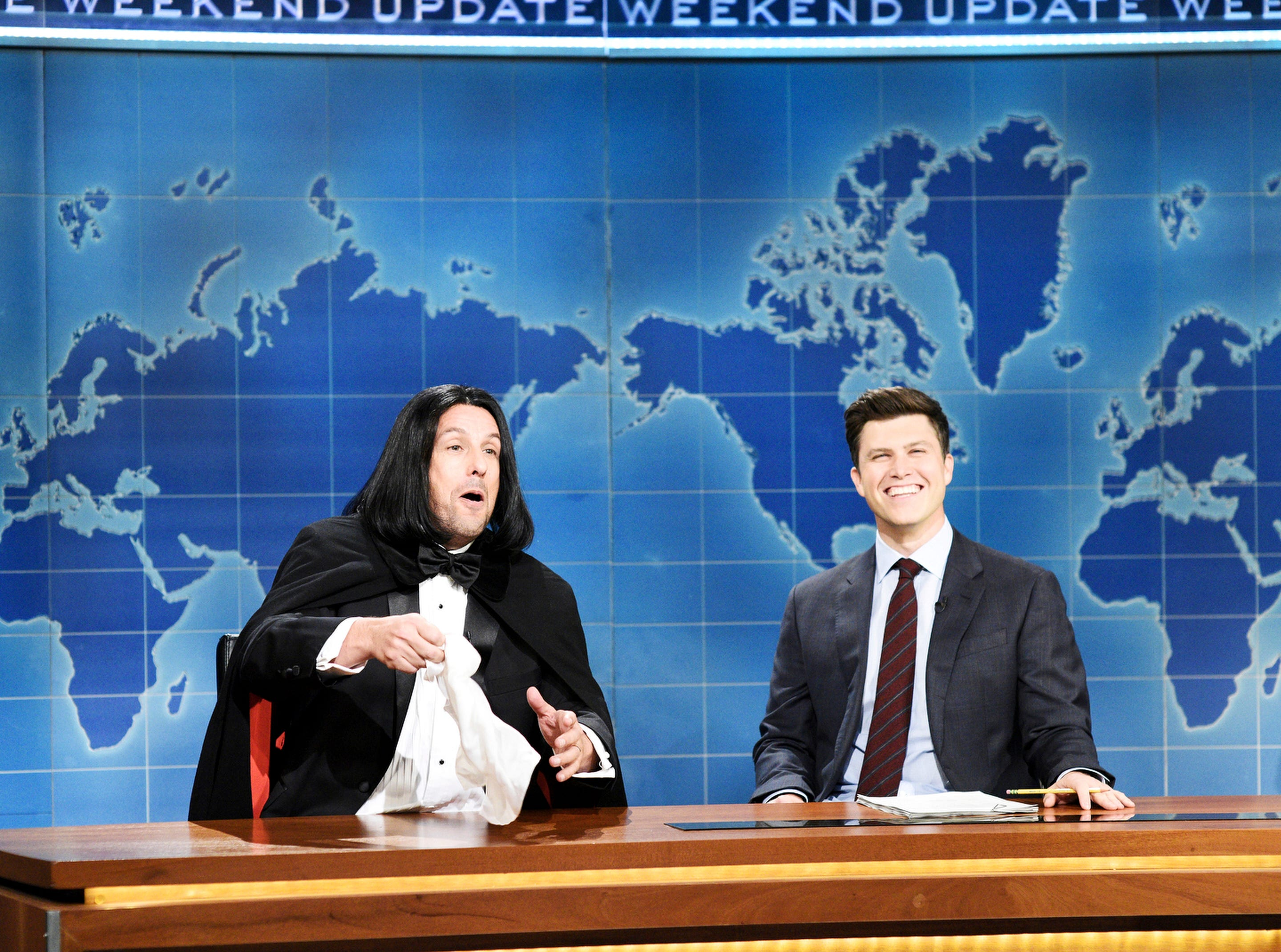 Sandler brought back his iconic Opera Man during Weekend Update with Colin Jost.