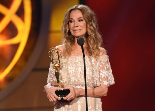 "Kathie Lee Gifford accepts the award for informative talk show host for ""Today Show With Kathie Lee & Hoda"" at the 46th annual Daytime Emmy Awards."