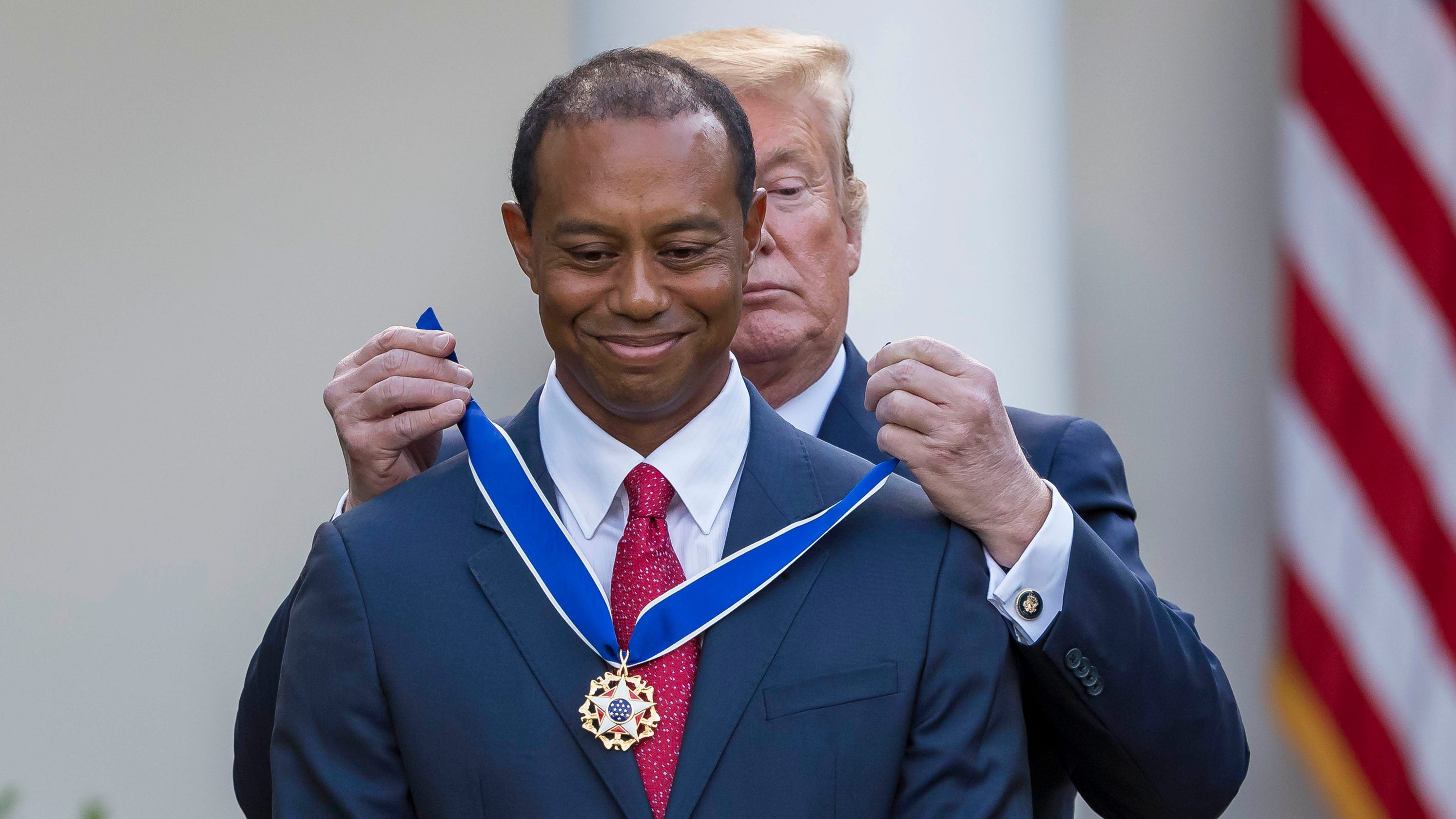 4167a40c Tiger Woods: Donald Trump presents Medal of Freedom to Masters winner