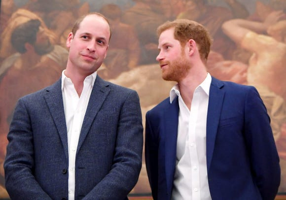 Two royal, modern dads, Prince William and Prince Harry.