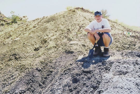 When he was 16, Sterling Nesbitt found the fossil remains of what would be named Suskityrannus hazelae in western New Mexico.