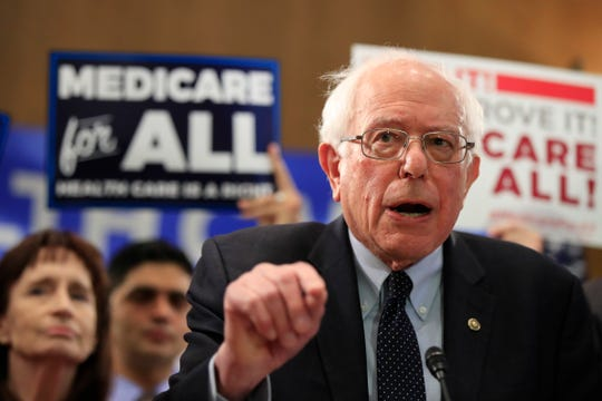 "Sen. Bernie Sanders, I-Vt., introduces ""Medicare for All"" on  April 10, 2019."