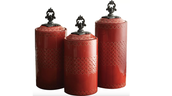 Fill your these canisters with your favorite dry goods.