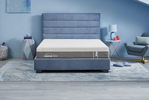Unwind in a soft-as-a-cloud Tempur-Pedic mattress.