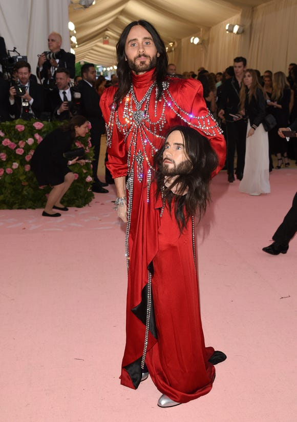 Jared Leto headed out on the Met Gala carpet with a replica of his head.