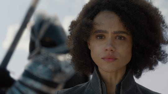 Missandei (Nathalie Emmanuel) awaits her gory fate.