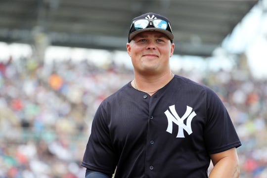 Luke Voit, 28, playing in his first full season as the Yankees' everyday first baseman.