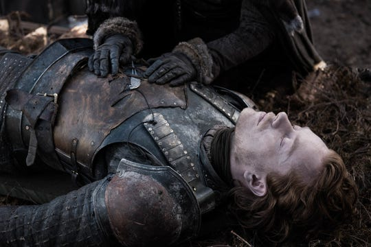 Theon Greyjoy (Alfie Allen) gave his life protecting Bran in the Battle of Winterfell.