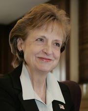 Then-White House Counsel Harriet Miers is interviewed Jan. 26, 2007, in her office in the White House in Washington.