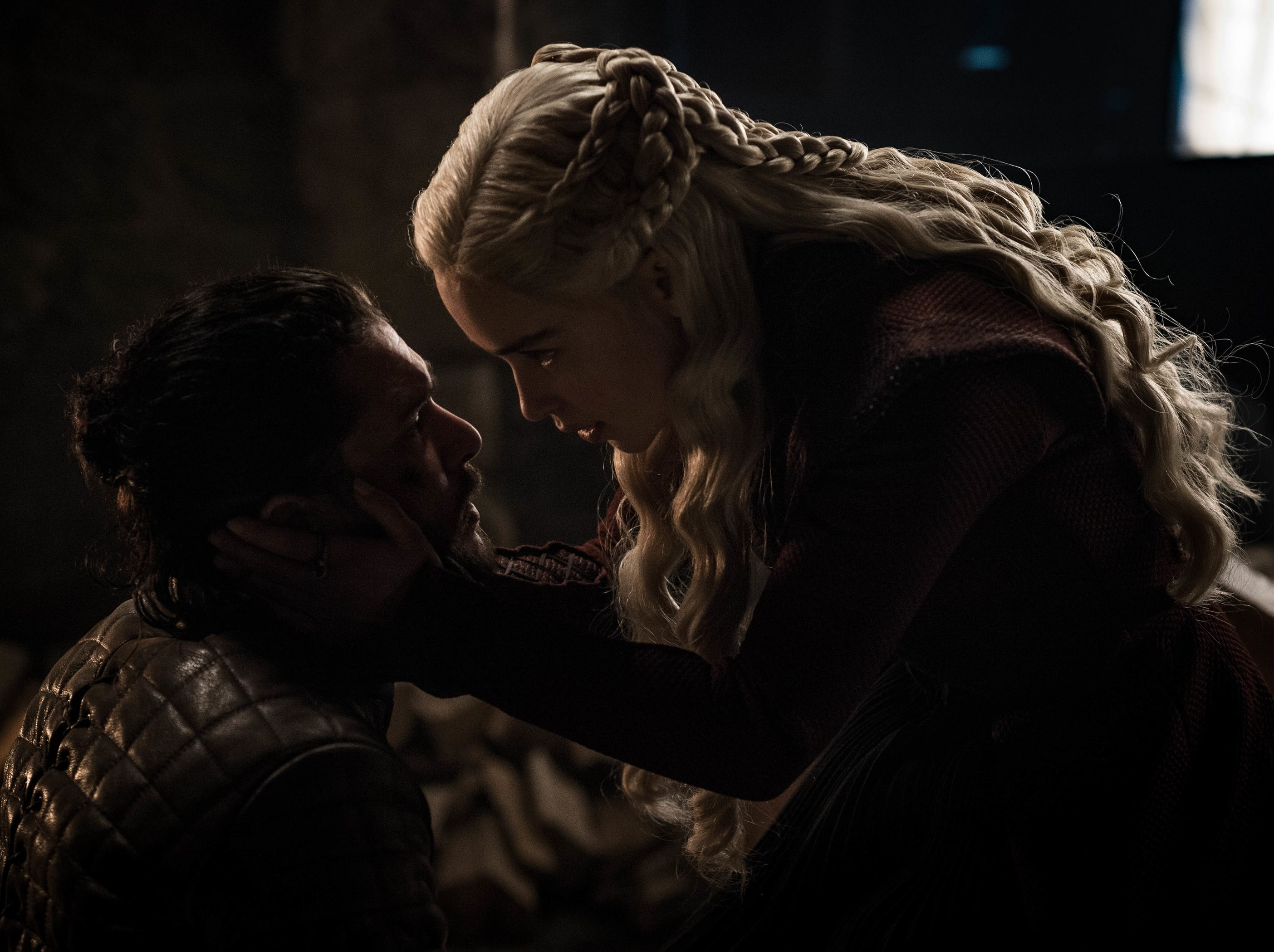 Jon Snow (Kit Harington), left, and Daenerys Targaryen (Emilia Clarke) love each other, but there are, shall we say, complications.