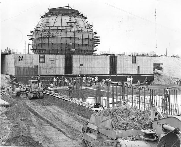 7/15/1965 The Oyster Creek nuclear reactor as it appeared in July 1965. It began operation in December 1969. Lacey Township