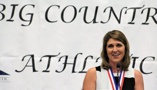Julie Goodenough was inducted into the Big Country Athletic Hall of Fame in 2019, months after leading Abilene Christian to its first women's NCAA Tournament appearance.