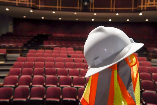 The Diana Wortham Theatre is under construction May 6, 2019 in Asheville.