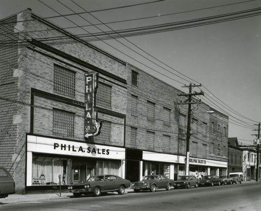 A familiar landmark, Philadelphia Sales on Clinton Street, about 1975.