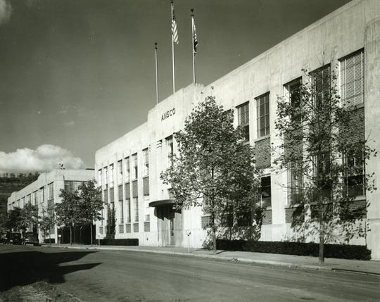 The main building for the Ansco complex, about 1945.