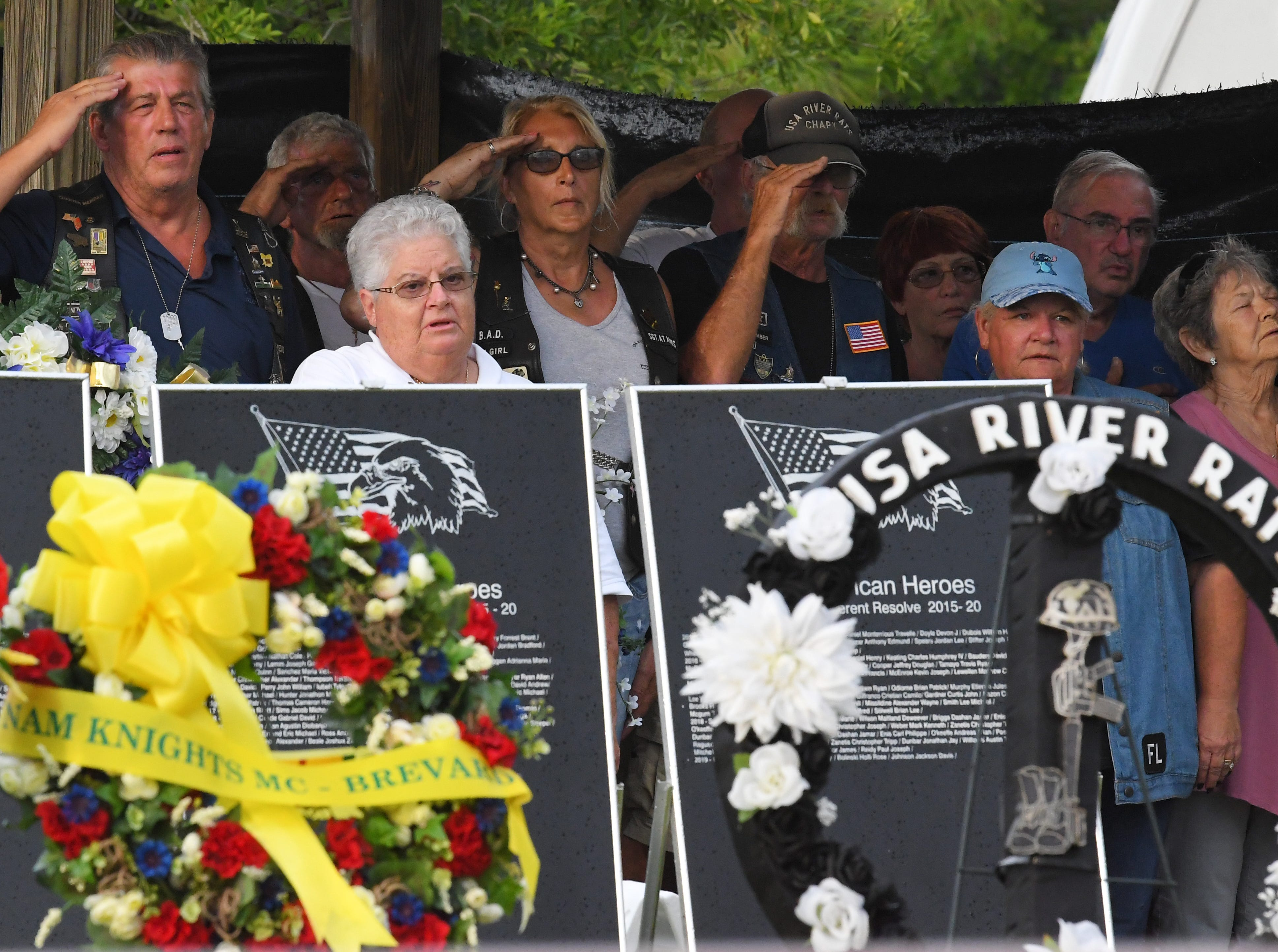 Monday's presentation of wreaths and opening ceremony at the Vietnam Traveling Memorial Wall, which will be set up until May 12. It is part of The 32nd Annual Vietnam and All Veterans Reunion, a free event open to the public at Wickham Park in Melbourne May 9-12.