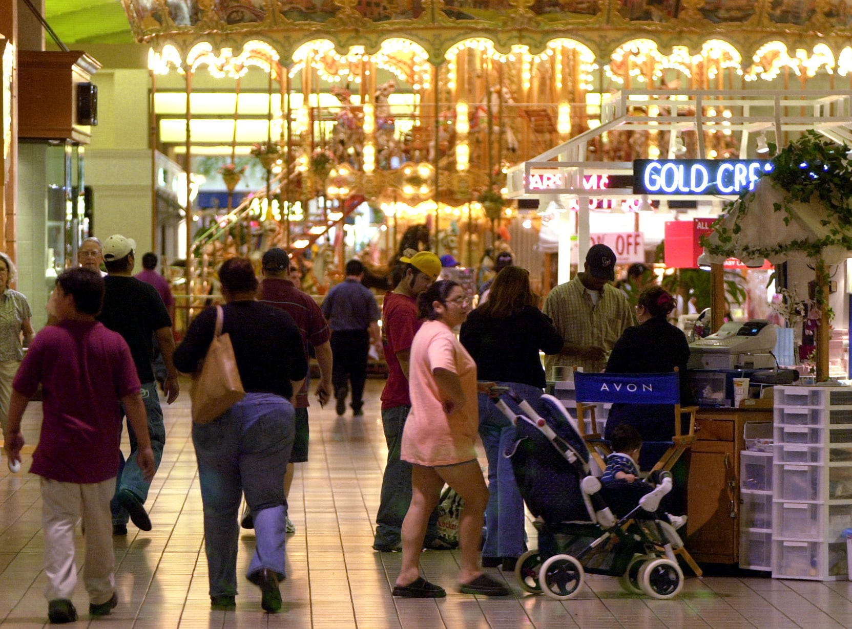Shopping at Padre Staples Mall in Corpus Christi in October 2001.