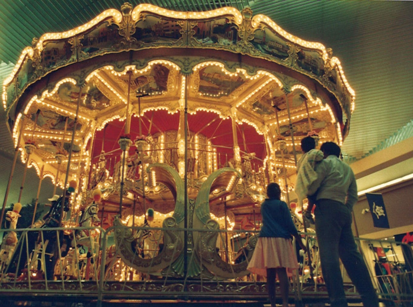 Carousel Carnaval became a permanent fixture inside Padre Staples Mall in 1988. The carousel was an authentic replica of Phillip Scheider's first double-decker carousel built in 1898. The replica had a grand opening in the mall on Saturday, Oct. 29, 1988.