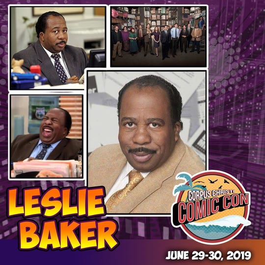 "NBC's ""The Office"" star Leslie David Baker will make an appearance at the third annual Corpus Christi Comic Con June 29-30."