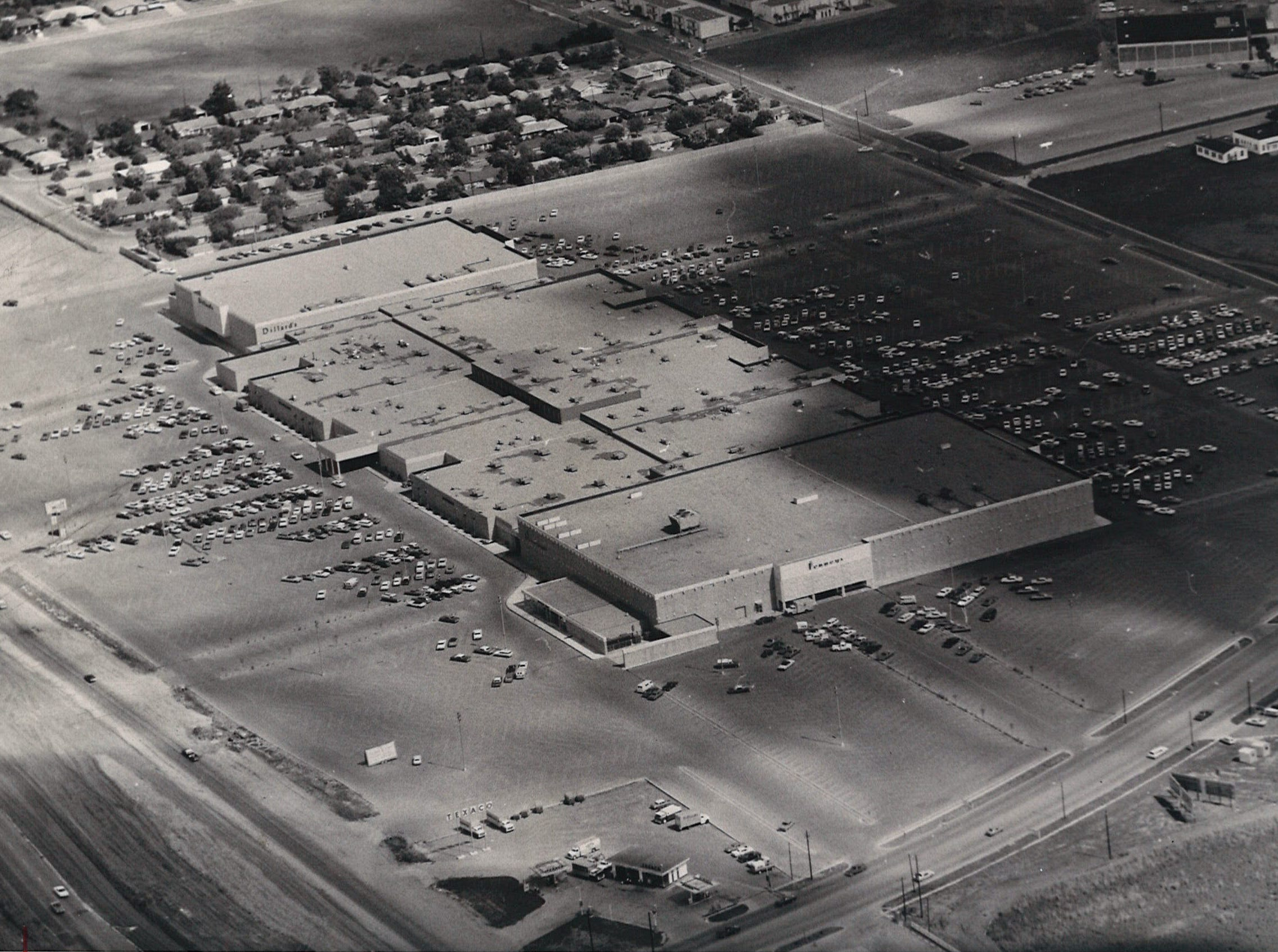 An aerial view of Padre Staples Mall in Corpus Christi in July 1970. The mall's grand opening was July 30 that year.